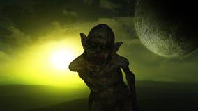 schlechter Dämon 3D Halloween-Hintergrund Lizenzfreie Stockfotografie