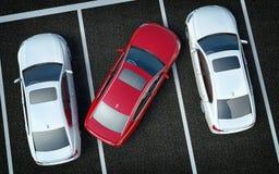 Schlechter Fahrer auf Parken stock abbildung