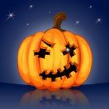 Schlechter furchtsamer Halloween-Kürbis Lizenzfreie Abbildung
