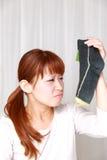 Schlechter Geruch Stockfotos