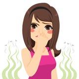Schlechter Geruch-Mädchen lizenzfreie abbildung