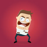 Schlechter lachender Mann in der Zwangsjacke Lizenzfreie Stockbilder