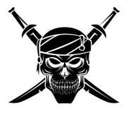 Schlechter Piratenschädel stock abbildung