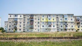 Schlechtes buntes Gebäude, Rumänien stockfoto