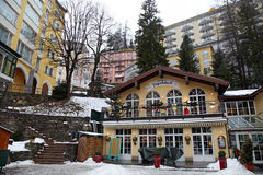 Schlechtes Gastein - eins des populärsten Skiorts im Österreich Stockbild
