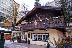Schlechtes Gastein - eins des populärsten Skiorts im Österreich Stockbilder