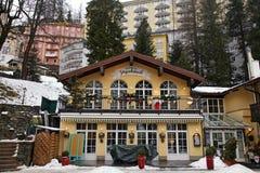 Schlechtes Gastein - eins des populärsten Skiorts im Österreich Stockfoto