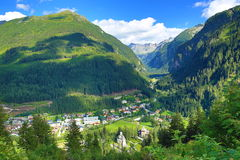 Schlechtes Gastein, Tauerntunnel, die Weise von Stubnerkogel zum schlechten Gastein, funikulär, Österreich Lizenzfreie Stockbilder