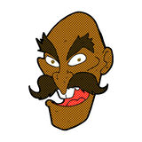 schlechtes Gesicht des alten Mannes der komischen Karikatur Stockfoto