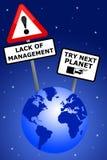 Schlechtes Management lizenzfreie abbildung