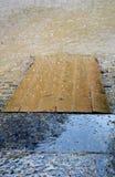Schlechtes regnerisches Wetter und Sumpf stockbild