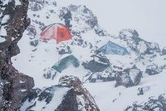 Schlechtes Wetter bei 4000 Metern Stockfoto