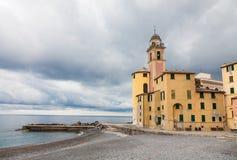 Schlechtes Wetter in Camogli, Italien stockfotografie