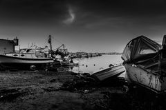 Schlechtes Wetter Marina And Fishermen Shelter Ins Lizenzfreies Stockfoto