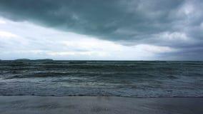 Schlechtes Wetter Stürmisches Meer stock video