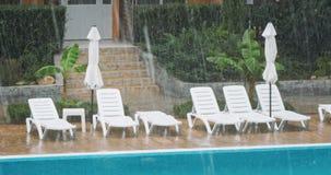 Schlechtes Wetter während der Ferien stock footage