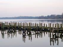Schlechtes Zwischenahn, Gehweg über dem See Lizenzfreie Stockbilder