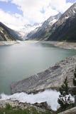 Schlegeis Reservoir in Ziller valley, Austria Stock Photo