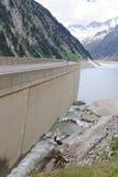 Schlegeis Stausee and Zillergründl Dam, Austria Stock Photography