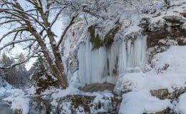 Schleier waterfall in winter Royalty Free Stock Image