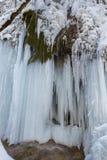 Schleier waterfall in winter Stock Photo