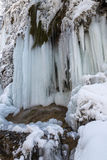 Schleier waterfall in winter Royalty Free Stock Photography