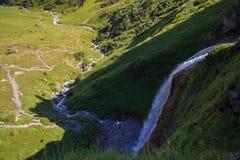 Schleierfall kaskad i Tux Tyrol royaltyfri foto
