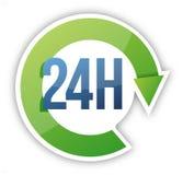 Schleife 24 Stundenservice-Abbildungauslegung Lizenzfreie Stockfotos
