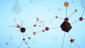 Schleife 3d übertrug lebhaften Wissenschaftshintergrund stock abbildung