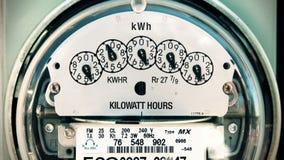 Schleife des Strom-Meter-(Zeit-Versehen) stock video footage