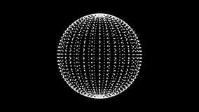 Schleife drehen Bereichanimationszyklus Weiße Punkte auf schwarzem Hintergrund vektor abbildung