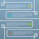 Schleife-Vektor-Schablone-Wahl-Plan-Broschüre-Management Stockbilder