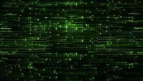 Schleifen-digitale grüne High-Teche Hintergründe stock footage