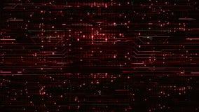 Schleifen-digitale rote High-Teche Hintergründe stock footage