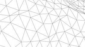 Schleifungsstellen und Polygon-Deformation Geometrielinien, -stellen und -polygone stock abbildung