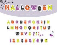 Schleimiger Guss Halloweens für Kinder Papier herausgeschnittene Karikaturen Lizenzfreies Stockfoto