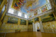 Schleissheim,德国- 2015年7月30日:里面主要宫殿大厦,有难以置信的绘画的,装饰房间 免版税库存照片