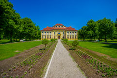 Schleissheim, Germany - July 30, 2015: Lustheim palace building, located on the other side of Schleissheim gardens Stock Photography