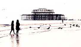 Schlendern auf den Strand Stockbilder