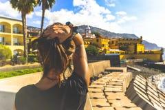 Schlendern entlang die Promenade - Funchal stockfotografie