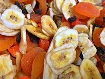 Schleppen Sie die Mischung, tropisch, Mangos, Bananen, Rosinen, Kokosnuss Stockfoto