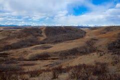 Schleppen Sie zwar den schöne Glenbow-Ranch-provinziellen Park in Alberta stockfotos