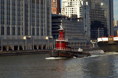 Schlepper in Manhattan Lizenzfreie Stockbilder