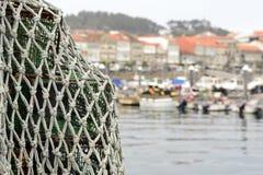 Schleppnetz auf Schiff Stockfotos