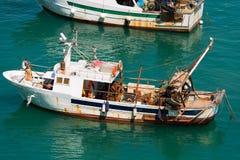 Schleppnetzfischer-Fischerboot - Ligurien Italien Stockbild
