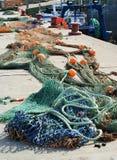 Schleppnetzfischer-Netze Lizenzfreie Stockfotografie