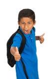 Schleppseil-Daumen oben für Schule Stockfoto