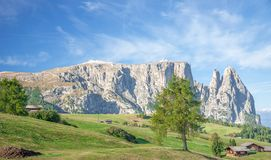 Schlern Mountain,Seiser Alm,south Tyrol,Italy Royalty Free Stock Images