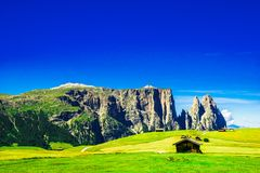 Schlern mountain in South tyrol stock photos