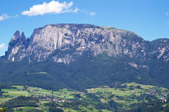 Schlern mountains in Italy Royalty Free Stock Image